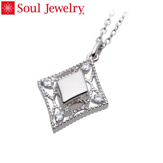 遺骨ペンダント Soul Jewelry エレガントレース シルバー925・キュービックジルコニア