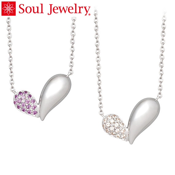 Soul Jewelry リーフハート Made with SWAROVSKI ZIRCONIA シルバー925