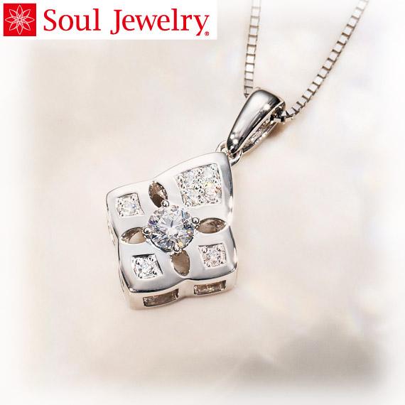 【ダイヤモンド鑑定書付】 遺骨ペンダント Soul Jewelry プラチナ&ダイヤモンド 【ロンバス】(予定納期約4週間・代引注文不可) Pt900 プラチナ