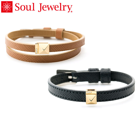 遺骨アクセサリー Soul Jewelry ブレスレット リストブレス 【ピッコロ】 K18 イエローゴールド 2つのベルトから選べます