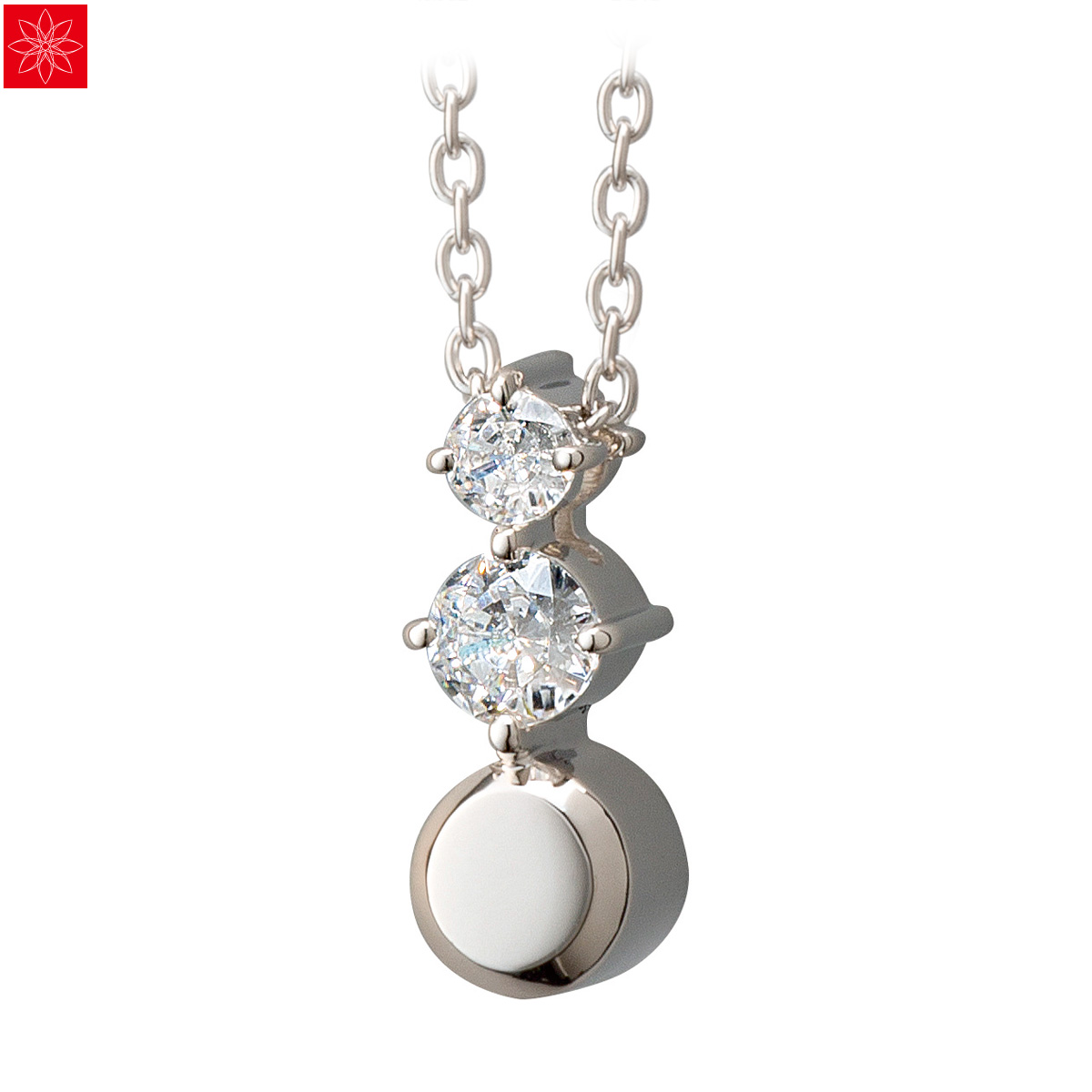 遺骨ペンダント Soul Jewelry Pour toi (プルトワ) ラウンドデイジー Made with SWAROVSKI ZIRCONIA シルバー925