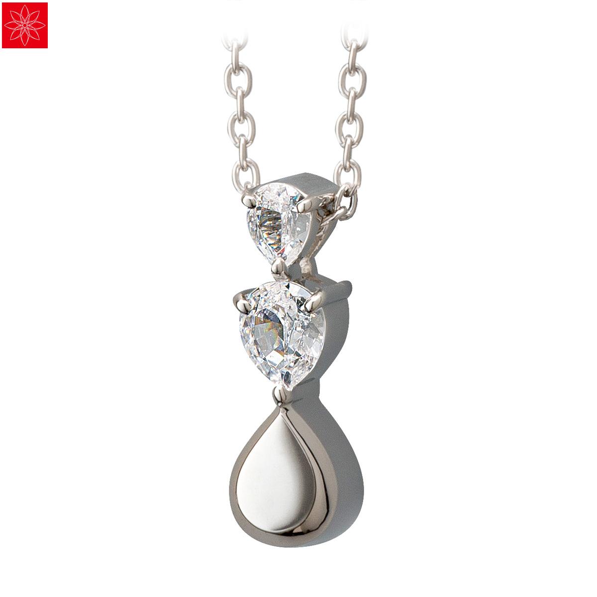 遺骨ペンダント Soul Jewelry Pour toi (プルトワ) ドロップ Made with SWAROVSKI ZIRCONIA シルバー925