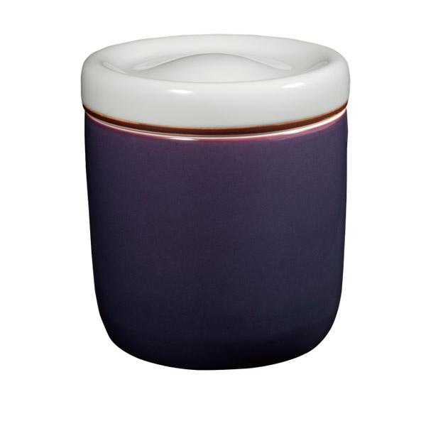 【Yahooニュースで深川製磁が紹介されました。「マイ骨つぼ」に。】【骨壷】鳳凰紋 紫紺彩磁 サイズ:7寸壺 (深川製磁)【送料無料】高貴な紫紺に映える鳳凰が見事に調和されています[骨壺 仏具 供養]【メモリアルアートの大野屋】