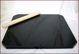 天然石のし台 天然石こね台 製菓台 ブラック サイズ:40×40cmパン ・ ピザ ・ お菓子作りに大活躍!《 のし棒 プレゼント 》チョコレート ・ テンパリング ・ パイ生地 パンこね台