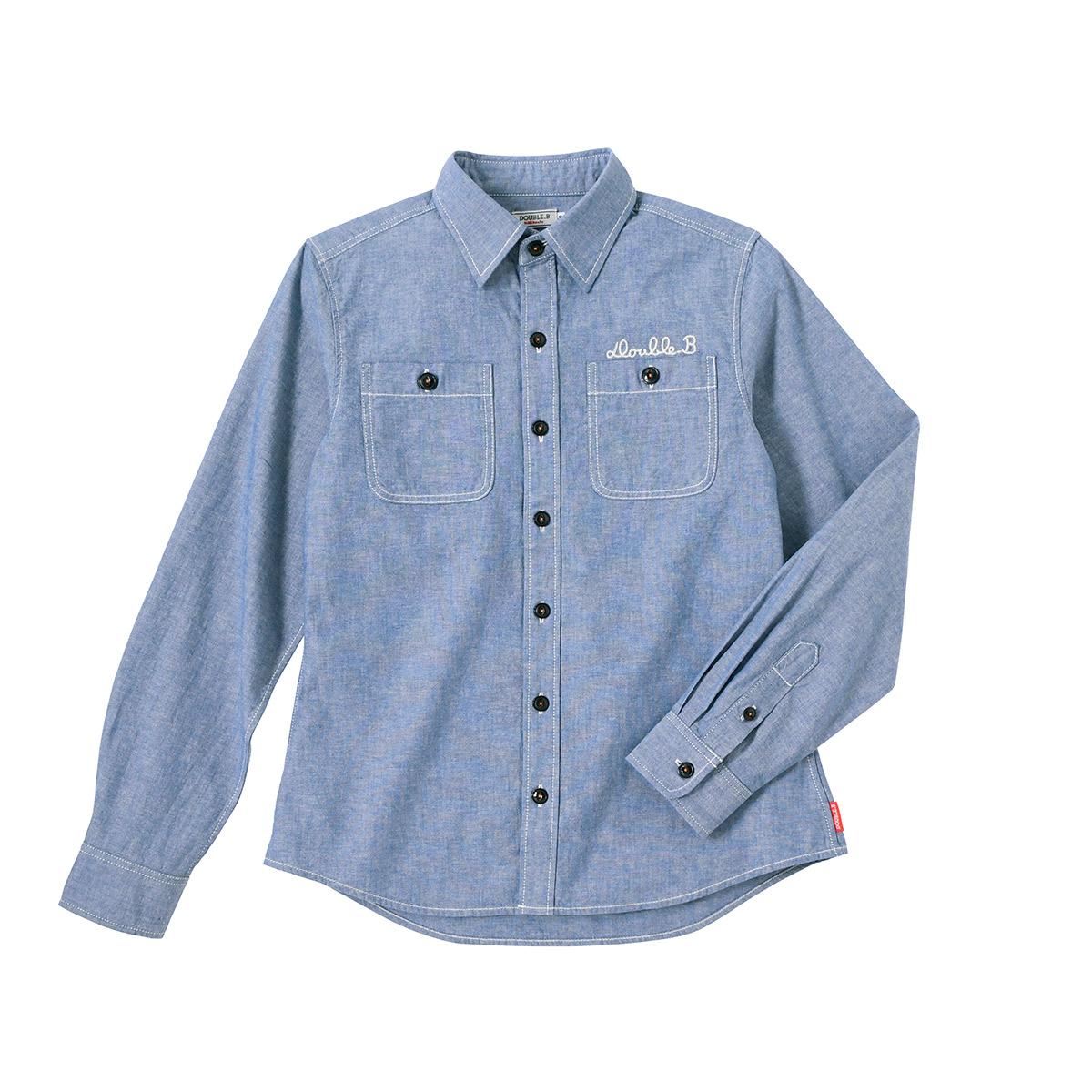 ダンガリーシャツ(大人用)〈M-L(165cm-185cm)〉