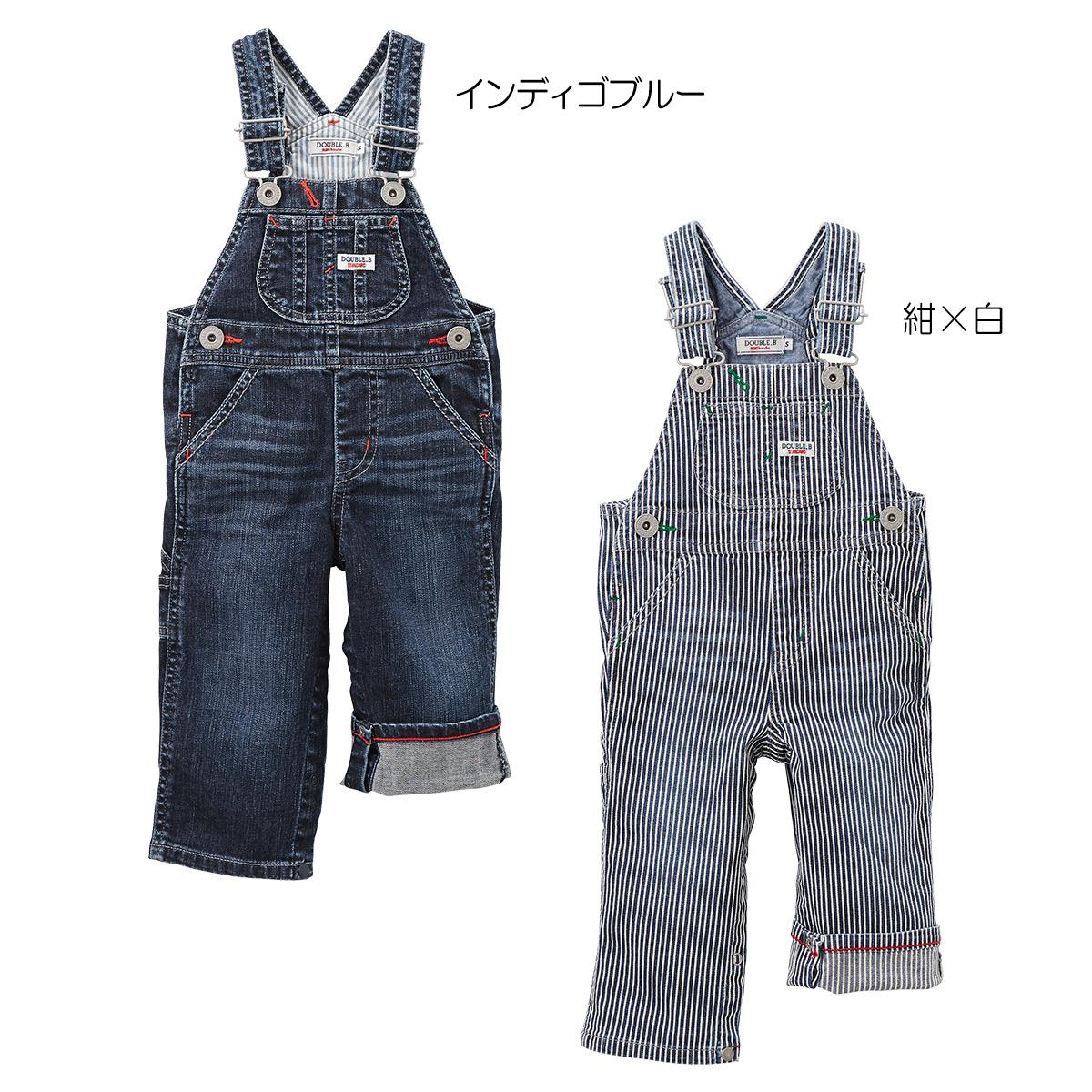 デニム★オーバーオール〈S-M(70cm-90cm)〉