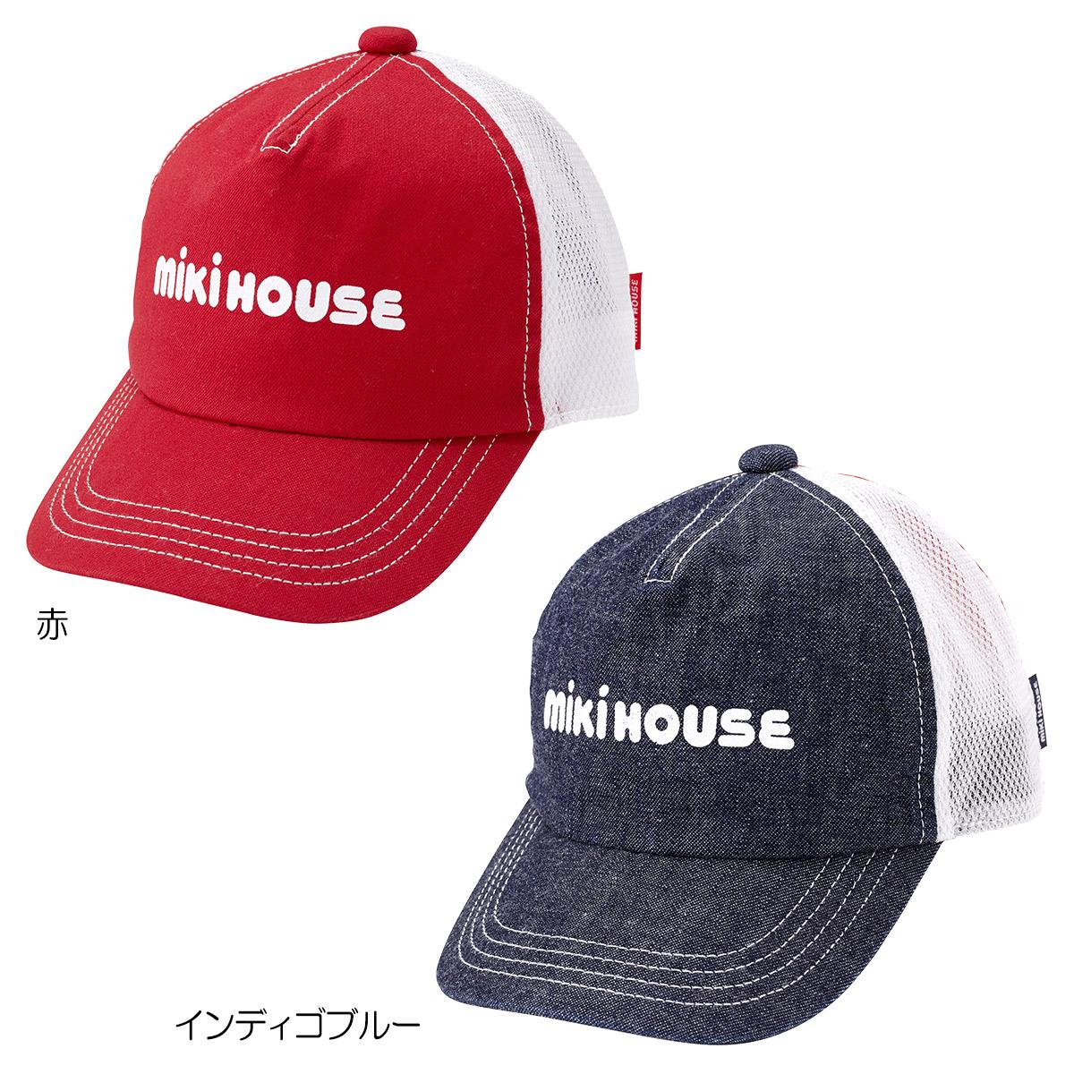 [mikihouse][ミキハウス]ロゴ入りメッシュキャップ〈S-LL(48cm-56cm)〉