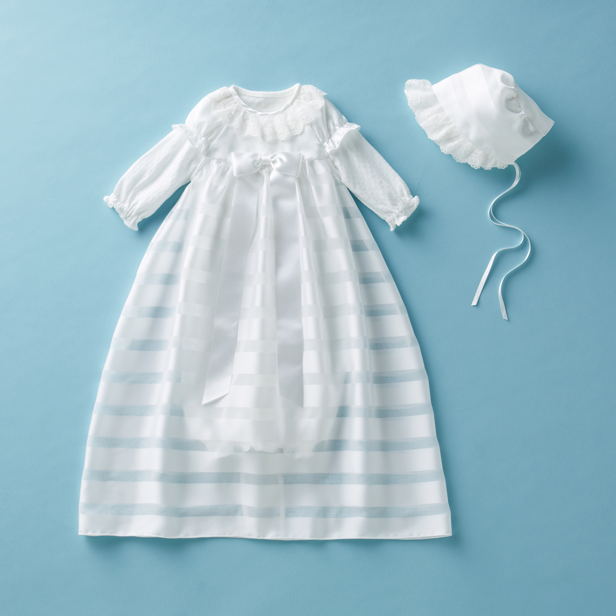 [mikihouse][ミキハウス]【箱付】華やかサテンコートのセレモニードレス3点セット