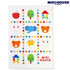 ☆ミキハウス ベビー☆ mikihouse 品質検査済 ミキハウス 人気激安 どうぶつ柄のタオルケット カラフルドット