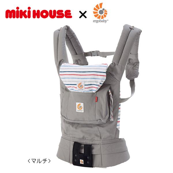 [mikihouse][ミキハウス]【箱付】ミキハウス×エルゴベビーコラボ『ベビーキャリア』(ボーダー)