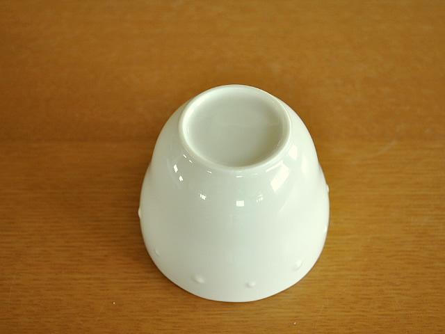 白い食器 ニューボン水玉ゼリーカップ ホワイトレベル5