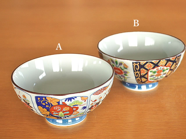 和食器 有田焼の染錦茶碗2柄
