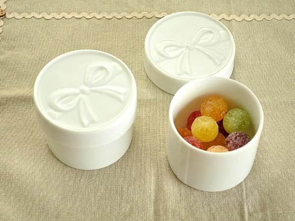食器 小物入れ おしゃれ コットンケース シュガーポット アウトレット カフェ風 白磁 ポーセラーツ 大人可愛い小物入れ