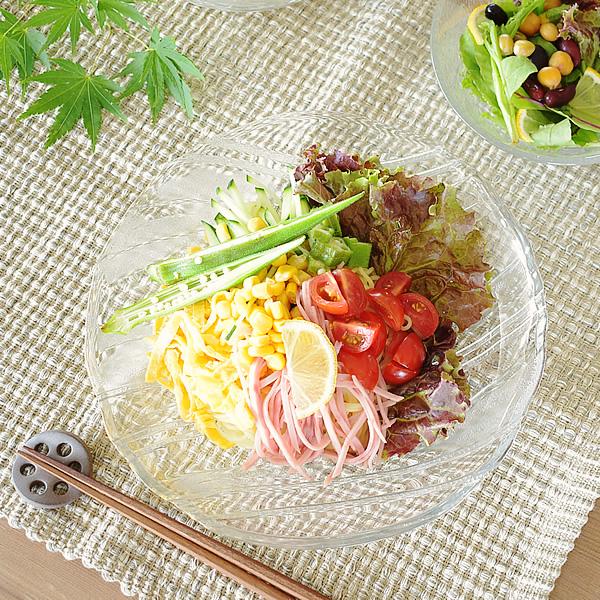 食器 買物 大皿 おしゃれ 日本製 プレート 深皿 深口 流水冷麺皿 P-6369 カフェ風 せせらぎ 冷麺 ディスカウント アウトレット ガラス