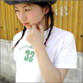 T shirt short sleeve SUPER SONIC cat POS OK ♪ 215. Mi-ne-g. limited message t-shirt 150 S M L XL