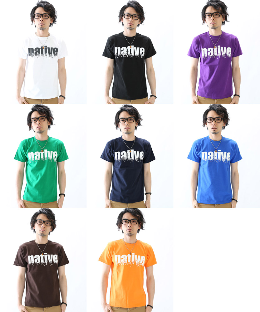 T shirt short sleeve native print NET limited message T shirts all 8 colors XS S M L XL size 10P01Jun14.
