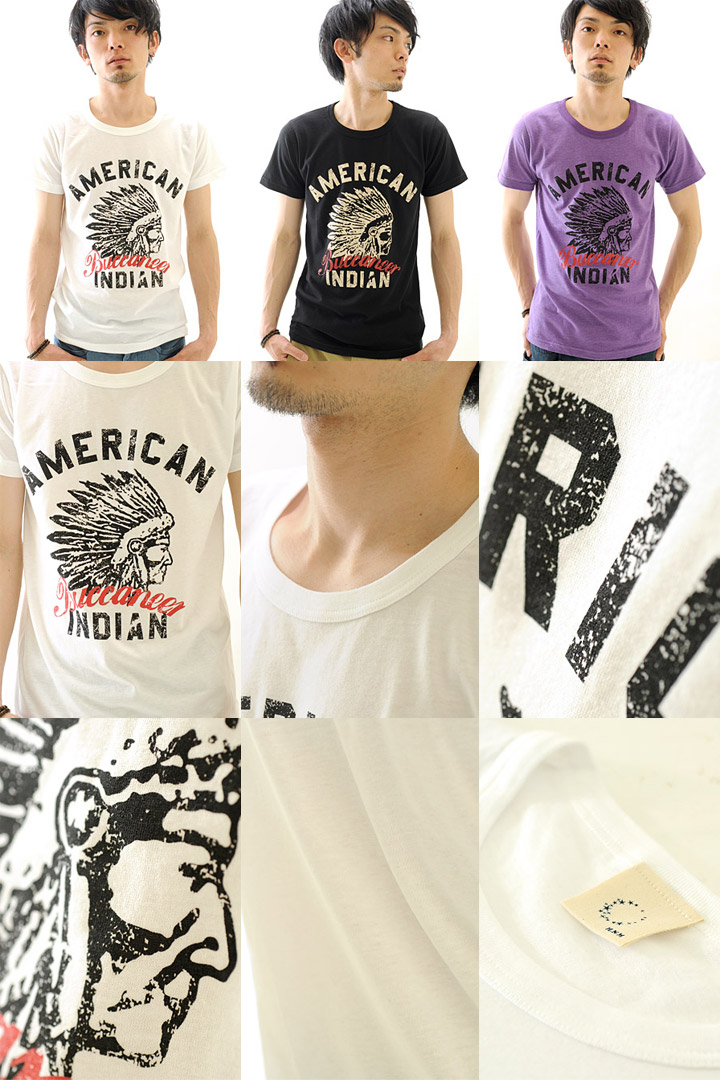 T shirt design printed American Indian short sleeve T shirt mens Kurashiki Kojima from /SS 10P10Nov13