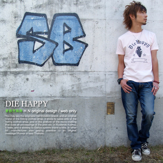 ★ ♪ DIE HAPPY mi-215. ne-sorted limited message T shirt 10P10Nov13