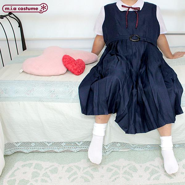 1115C★J【送料無料・即納】 スクールジャンパースカート制服セット サイズ:JUMBO ワンピース