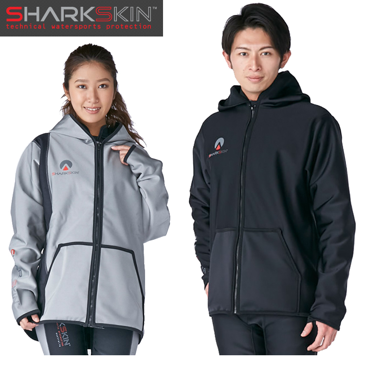 【SHARKSKIN】シャークスキン チルプルーフ フードジャケット ブラック ダイビング 防寒 寒さ対策 船 ボート 【10P23Feb19】