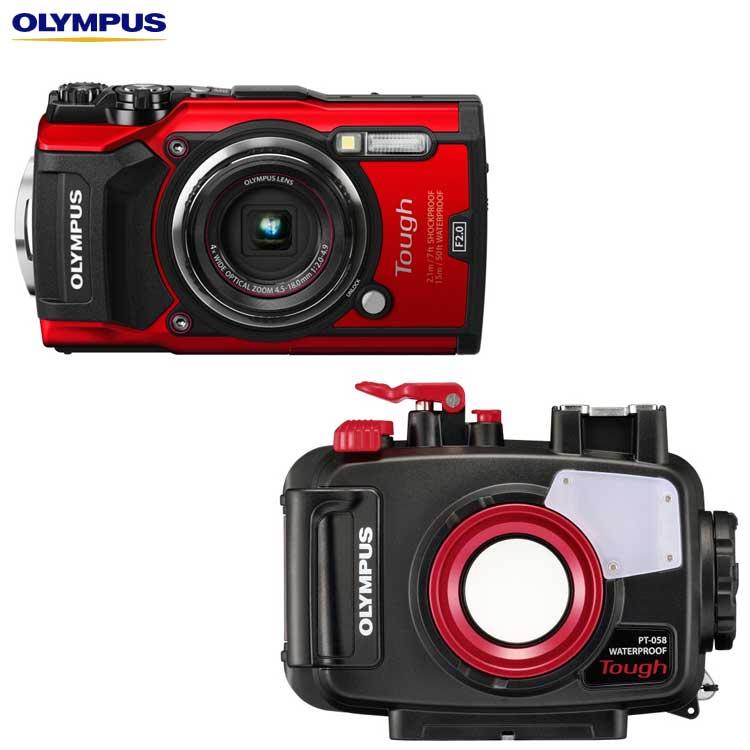 【あす楽対応】【OLYMPUS】オリンパス TG-5+PT-058 水中カメラセット【05P19Aug18】