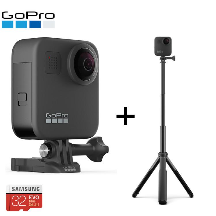 [SDカードプレゼント] GoPro MAX + MAXグリップ+トライポッド セット ゴープロ マックス CHDHZ-201-FW ASBHM-002 360度撮影 ウェアラブルカメラ 【国内正規品】 【mic-point】
