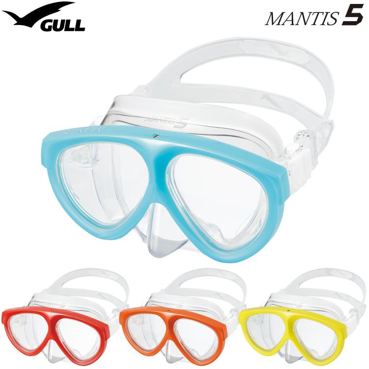 【GULL】GM-1035 マンティス5 シリコン GM1035 MANTIS 5 ダイビング用マスク