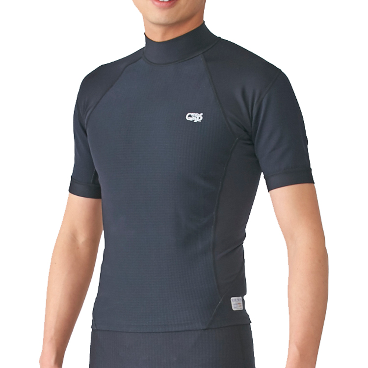 【Surf Grip】SURF GRIP HC CSP エアースキン 半袖/ブラック ダイビング サーフィン インナー