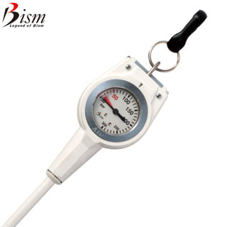 【Bism】GK2410W コンパクトゲージ ホワイト【残圧計】【02P28Mar19】