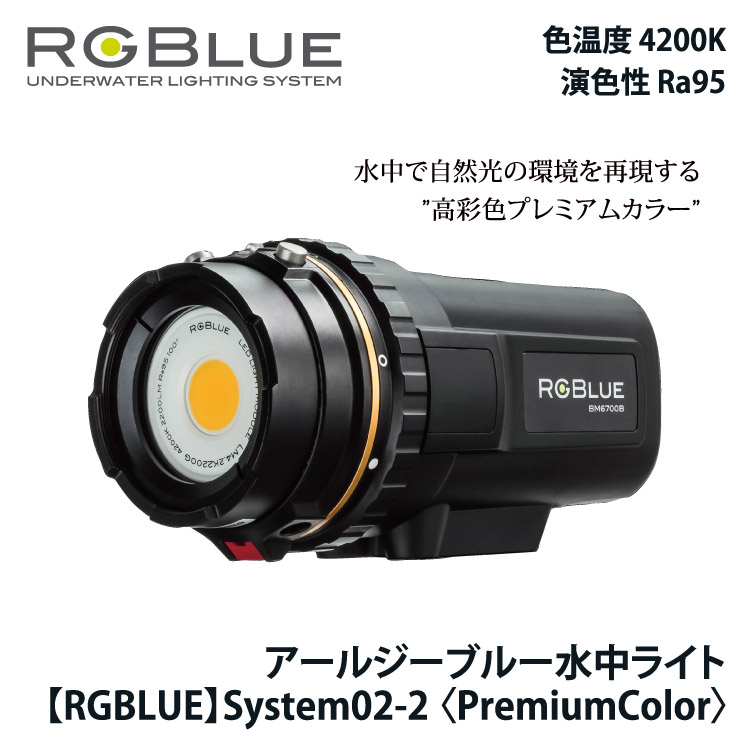 【RGBlue】System02(Ver.2)PREMIUM COLOR アールジーブルー システム02バージョン2プレミアムカラー 水中ビデオライト【02P28Mar19】