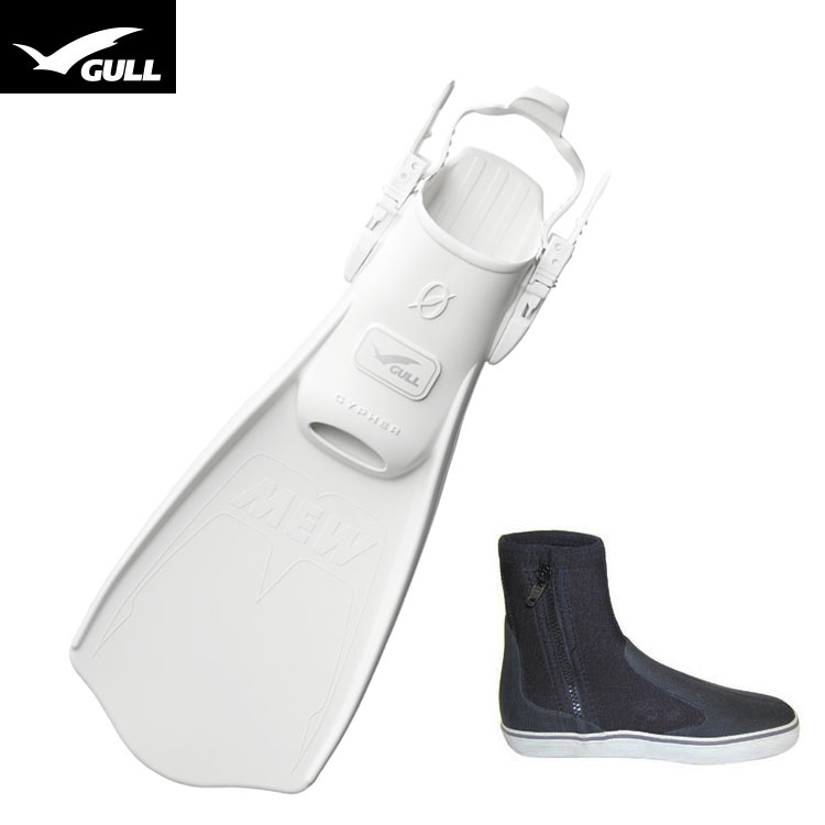 【GULL】MEW CYPHER ミューサイファー + ブーツ2点セット【ホワイト】【02P23Feb19】