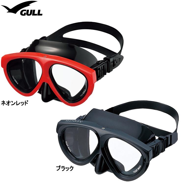 ダイビング マスク GULL ガル マンティスブラックシリコン GM-1031 MANTIS【ダイビング用マスク】