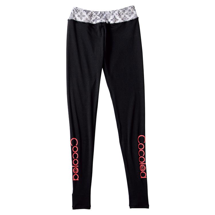 【Cocoloa】GW-6437 ココロア スリムビーチトレンカ II [ブラック x キルトグラムブラック]