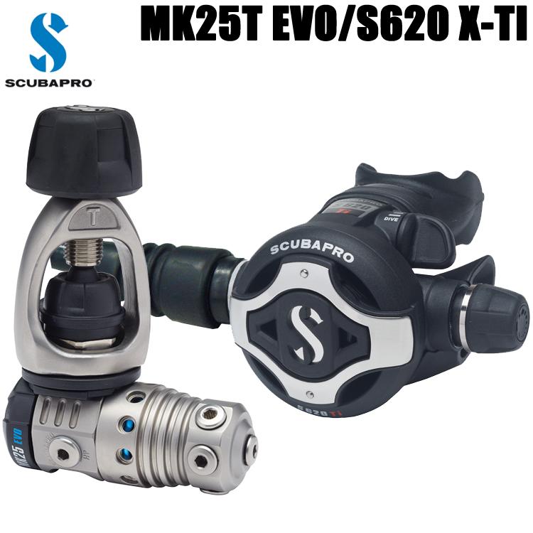 【スキューバプロ】SCUBAPRO MK25T EVO/S620 TI (スイベル付き)レギュレーター 12-620-400J【送料無料】【10P16Apr19】