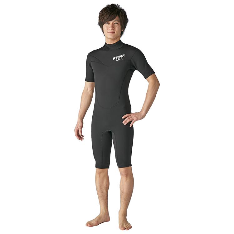 【BREAKER OUT】18BO DT-S ショートスリーブスプリング 2mm [メンズ] ダイビング サーフィン ウエットスーツ 半袖【02P16Apr19】