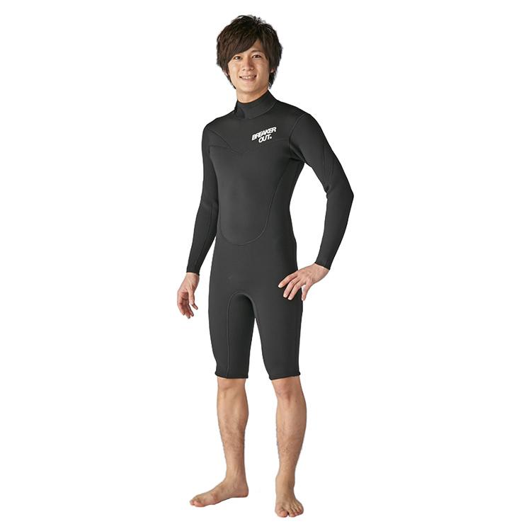 【BREAKER OUT】18BO DT-S ロングスリーブスプリング 3mm [メンズ] ダイビング サーフィン ウエットスーツ