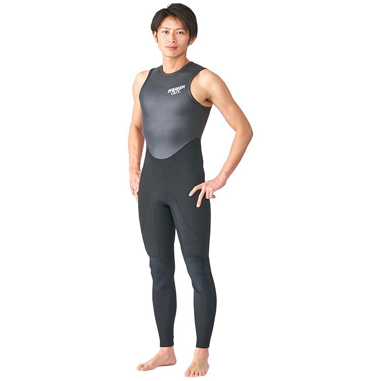 【BREAKER OUT】CLASSIC ロングジョン 3mm [メンズ] ダイビング サーフィン ウエットスーツ