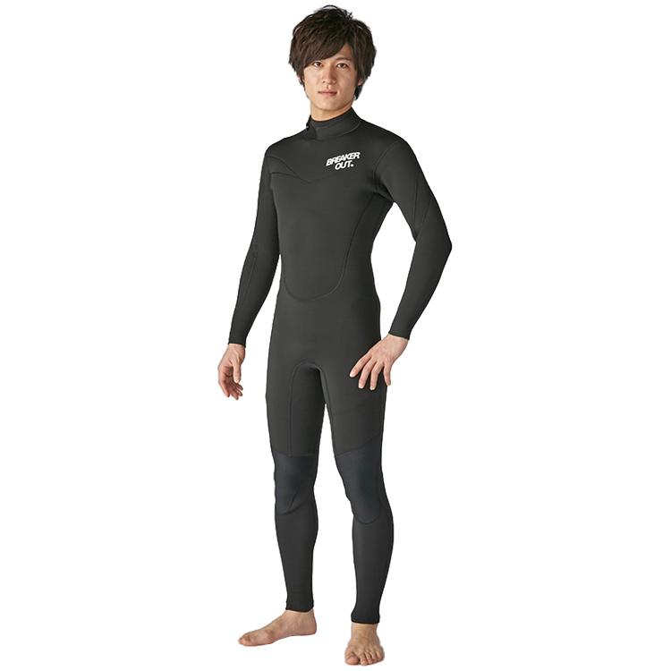 【BREAKER OUT】18BO DT-S フルスーツ 3mm [メンズ] ダイビング サーフィン ウエットスーツ【02P16Apr19】