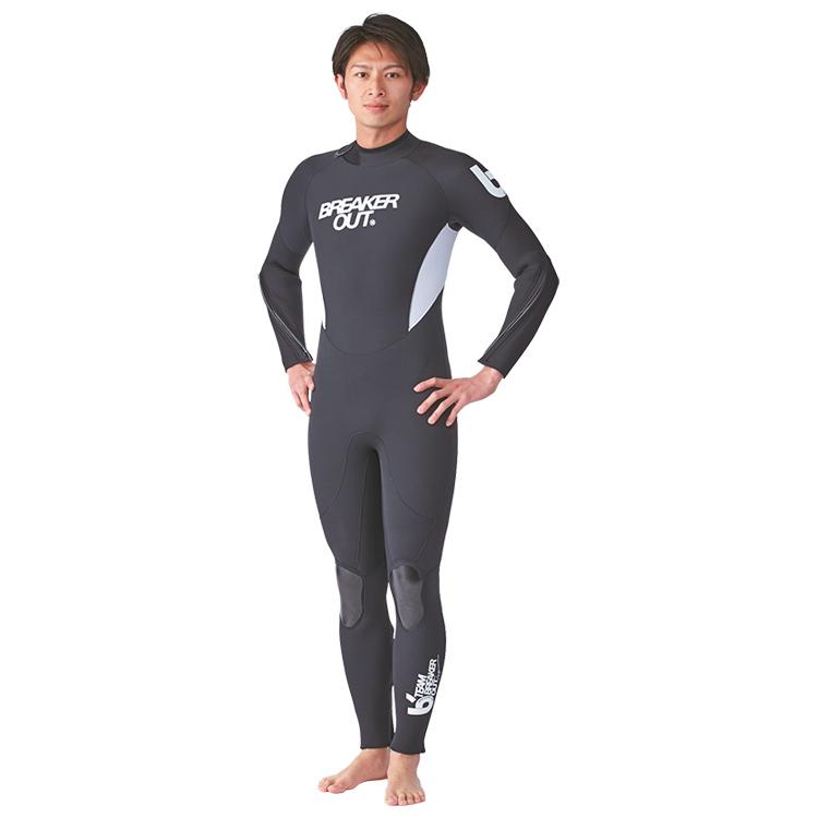 【BREAKER OUT】M-TM ワンピース 5mm (ホワイト) [メンズ] ダイビング サーフィン ウエットスーツ【02P16Apr19】