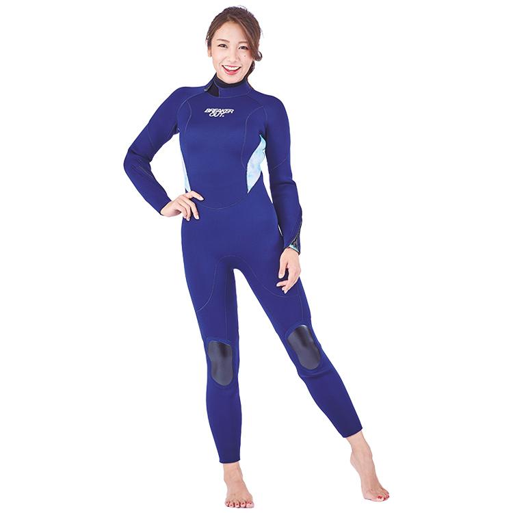 【BREAKER OUT】M-TM ワンピース 5mm [レディース] ネイビー ハイドレンジア ダイビング サーフィン ウエットスーツ【02P13Jul19】