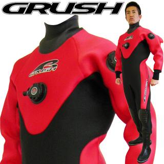 GRUSHドライスーツ メンズ RED [ダイビング用]【送料無料】【10P23Feb19】