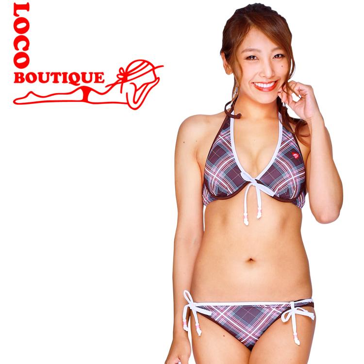 メイド イン ハワイのビキニ 送料無料 マーケット LOCO ロコブティック Brown 値下げ MJF02593 Scotchy BOUTIQUE