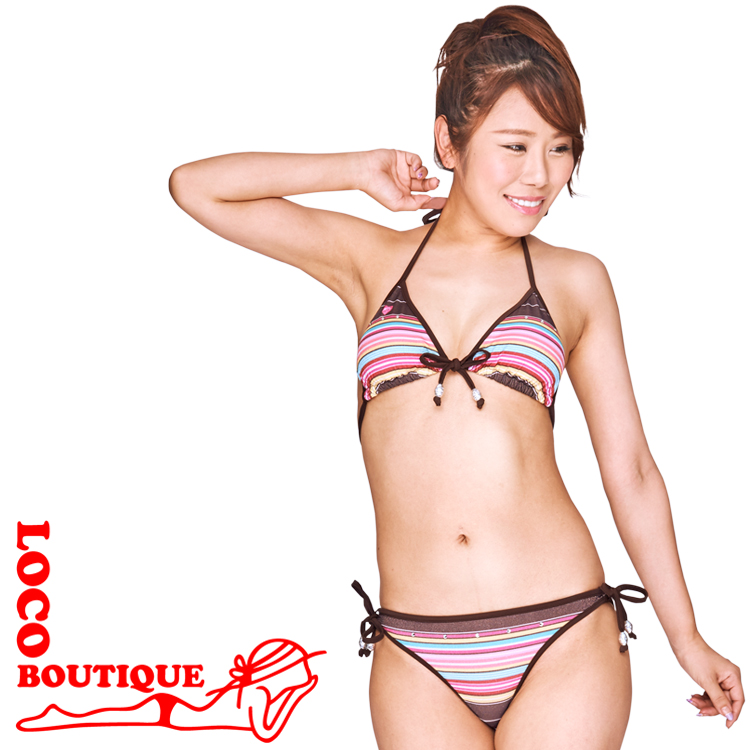 メイド イン 爆買い新作 ハワイのビキニ 送料無料 LOCO MJF02629 Easy Brown ロコブティック 付与 BOUTIQUE