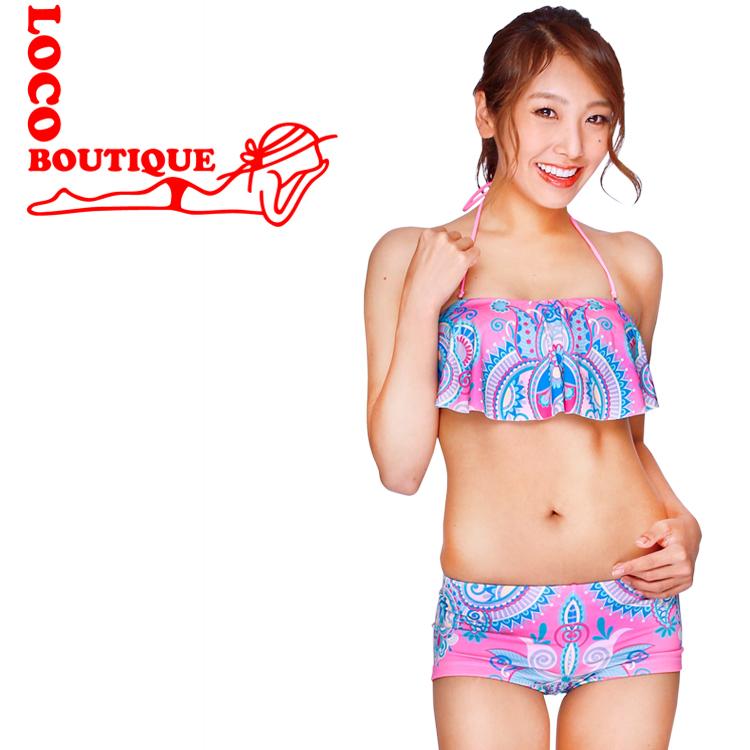 メイド 宅配便送料無料 イン ハワイのビキニ 送料無料 LOCO BOUTIQUE PINK ROSE CARPET MAGIC MJF03566 ロコブティック オンラインショップ