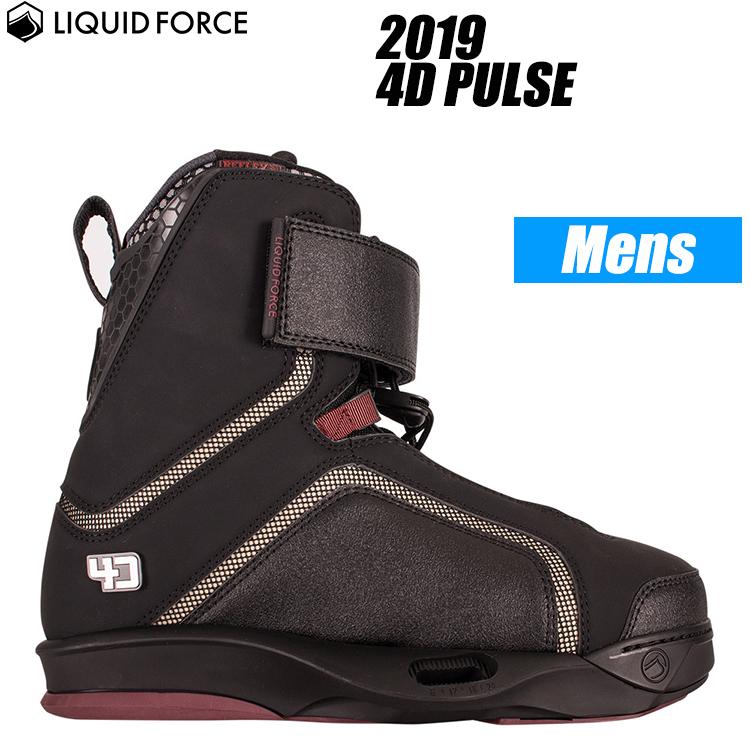 【Liquid Force リキッドフォース】2019年モデル 4D PULSE ウェイクボード用ブーツ【送料無料】【02P20Sep18】