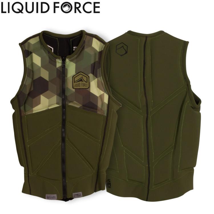 【Liquid Force リキッドフォース】 2017年モデル Z-CARDIGAN COMP VEST ジップ カーディガンCOMPベスト [グリーン] 【02P20Sep19】
