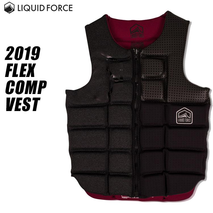 【Liquid Force リキッドフォース】2019年モデル FLEX COMP VEST フレックスCOMP メンズベスト (BLACKOUT)【02P20Sep19】