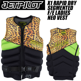 JETPILOT ジェットパイロット 2015年モデル JA4209 X1 RAPID DRY SEGMENTED F/E LADIES NEO VEST (Lime) 【02P04Apr19】
