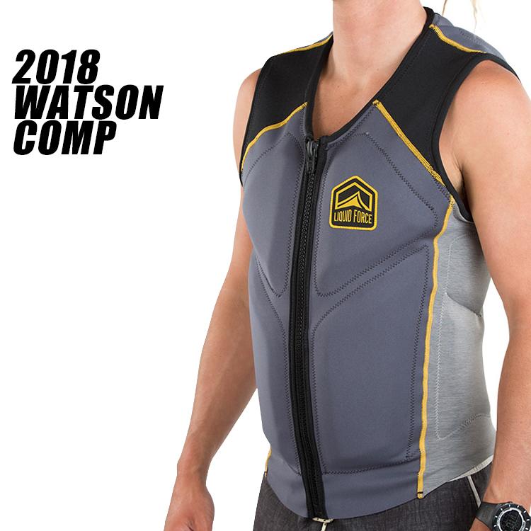 【Liquid Force リキッドフォース】2018年モデル WATSON COMP VEST ワトソンCOMPベスト [スティール/イエロー]【送料無料】 【02P16Apr19】
