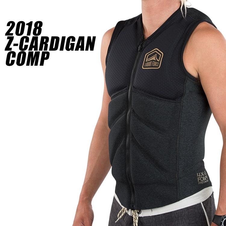 【Liquid Force リキッドフォース】2018年モデル Z-CARDIGAN COMP VEST ジップ カーディガンCOMPベスト [ブラック]【送料無料】【02P04Apr19】